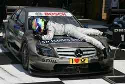 Race winner Bruno Spengler, Team HWA AMG Mercedes C-Klasse celebrates
