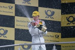 Podium: second place Paul di Resta, Team HWA AMG Mercedes C-Klasse