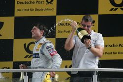 Podium: race winner Bruno Spengler, Team HWA AMG Mercedes C-Klasse