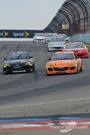 #68 SpeedSource Mazda RX-8: Adam Christodoulou, John Edwards, Tom Long, #70 Speedsource Mazda RX-8: