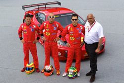 #82 Risi Competizione Ferrari F430 GT: Jaime Melo, Gianmaria Bruni, Pierre Kaffer