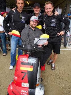 Peter Kox, Tomas Enge en Christoffer Nygaard met fan
