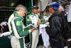 Paul Drayson, Emanuele Pirro en Jonny Cocker