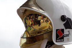 Reflectie van de #13 Rebellion Racing Lola Rebellion Coupe: Andrea Belicchi, Jean-Christophe Boullio