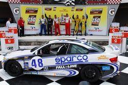 GS Podium: race winners Charles Putman, Charles Espenlaub