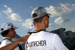 Michael Schumacher, Mercedes GP supporting German football team