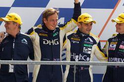 LMGT1 podium: tweede plaats Stephan Gregoire, Jerome Policand en David Hart