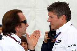 Emerson Fittipaldi and Nick Fry