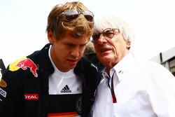 Bernie Ecclestone et Sebastian Vettel, Red Bull Racing