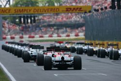 The grid at the start