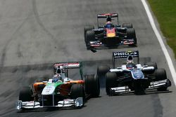 Авария Адриана Сутиля, Force India F1 Team и Нико Хюлькенберга, Williams F1 Team