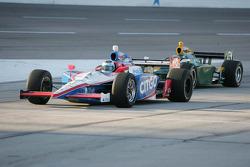 Milka Duno, Dale Coyne Racing & Takuma Sato, KV Racing Technology