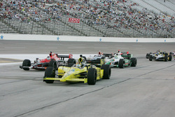 Sarah Fisher, Sarah Fisher Racing leads the pack into pit lane at Texas Motor Speedway