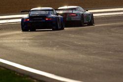 #52 Young Driver AMR Aston Martin DBR9: Christoffer Nygaard, Tomas Enge, Peter Kox, #88 Team Felberm