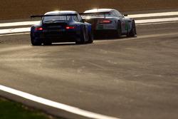 #52 Young Driver AMR Aston Martin DBR9: Christoffer Nygaard, Tomas Enge, Peter Kox, #88 Team Felbermayr-Proton Porsche 911 GT3 RSR: Horst Felbermayr Sr., Horst Felbermayr Jr., Miro Konopka