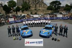 #77 Team Felbermayr-Proton Porsche 911 GT3 RSR: Marc Lieb, Richard Lietz, Wolf Henzler, 88 Team Felbermayr-Proton, #88 Team Felbermayr-Proton Porsche 911 GT3 RSR: Horst Felbermayr Sr., Horst Felbermayr Jr., Miro Konopka