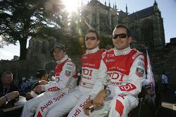 Marcel Fässler, André Lotterer and Benoit Tréluyer