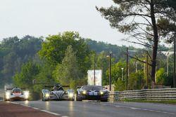 #61 Matech Competition Ford GT: Natacha Gachnang, Rahel Frey, Cyndie Allemann, #42 Strakka Racing HPD ARX.01: Nick Leventis, Danny Watts, Jonny Kane