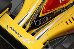 The engine cover and rear wing of Benjamin Bailly