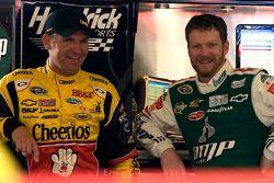 Clint Bowyer, Richard Childress Racing Chevrolet et Dale Earnhardt Jr., Hendrick Motorsports Chevrol