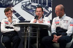 Team Peugeot persconferentie: Bruno Famin, technical director en Olivier Quesnel, Peugeot Sport dire