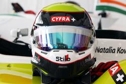 The helmet of Natalia Kowalska