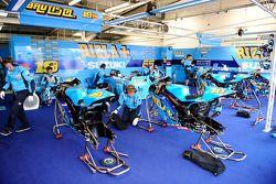 Rizla Suzuki MotoGP pits