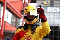 Benjamin Bailly celebrates his pole position for race 2