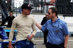 Jack Clarke with Simon Melluish F2 Media and PR Officer