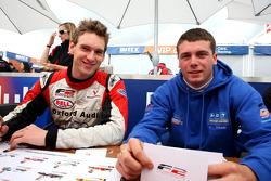 Paul Rees and Jack Clarke in the autograph session