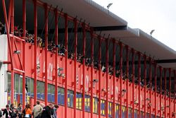 Fans watch the action at Zolder