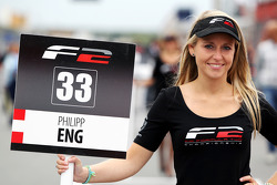 F2 grid girl for Philipp Eng