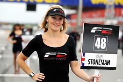 F2 grid girl for Dean Stoneman