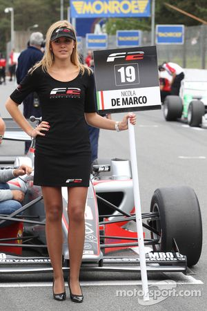 F2 grid girl for Nicola de Marco