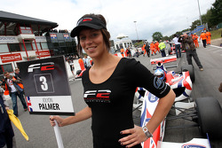 F2 grid girl for Jolyon Palmer
