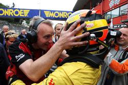 Race winner Benjamin Bailly celebrates