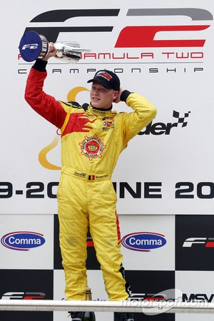 Podium: race winner Benjamin Bailly