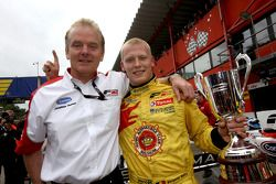 Jonathan Palmer, CEO MotorSport Vision, with Benjamin Bailly