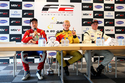 Post-race press conference: race winner Benjamin Bailly, second place Jolyon Palmer, third place Dea