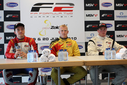 Post-race press conference: race winner Benjamin Bailly, second place Jolyon Palmer, third place Dean Stoneman