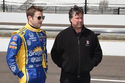 Marco Andretti, Andretti Autosport Honda, und Michael Andretti