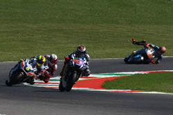 Jorge Lorenzo, Yamaha Factory Racing, Tito Rabat, Marc VDS Racing crashes