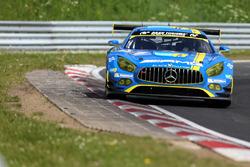 #9 AMG-Team Black Falcon, Mercedes AMG GT3: Hubert Haupt, Yelmer Buurman, Maro Engel, Dirk Müller