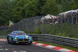 Pole setting #9 AMG-Team Black Falcon, Mercedes-AMG GT3: Hubert Haupt, Yelmer Buurman, Maro Engel, Dirk Müller
