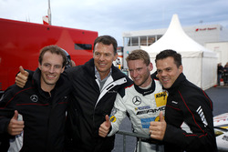 Pole position for #9 AMG-Team Black Falcon, Mercedes-AMG GT3: Hubert Haupt, Yelmer Buurman, Maro Engel, Dirk Müller