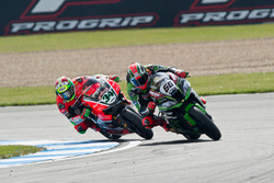 Tom Sykes, Kawasaki Racing Team, Davide Giugliano, Aruba.it Racing - Ducati Team