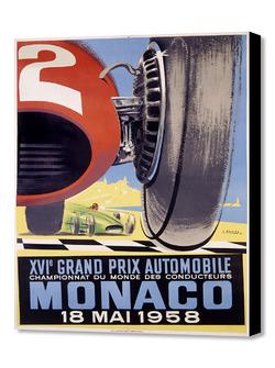 Historisches Poster zum Monaco-Grand-Prix
