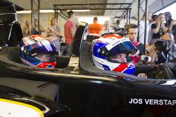 Йос и Виктория Ферстаппен, двухместная машина Ф1