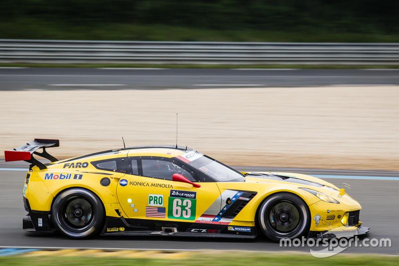 52: #63 Corvette Racing Chevrolet Corvette C7-R: Jan Magnussen, Antonio Garcia, RickyTaylor
