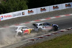 Johan Kristoffersson, Volkswagen Team Sweden; Mattias Ekstrテカm, EKS RX